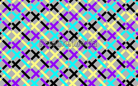 abstract multi coloured crisscrossing grid pattern