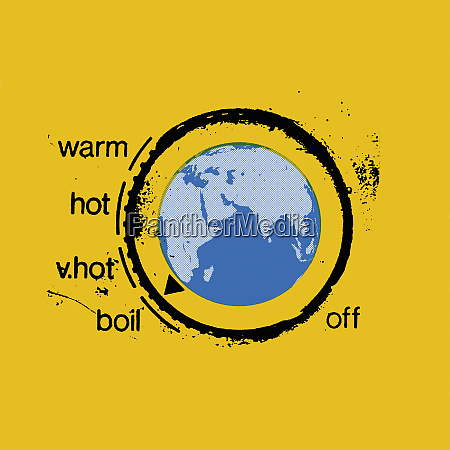 planet earth as heating thermostat