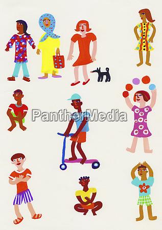 montage of portraits of children
