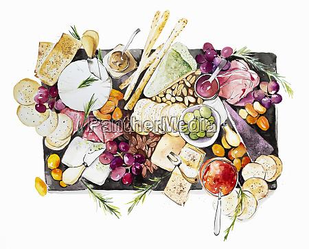 antipasti slate sharing platter
