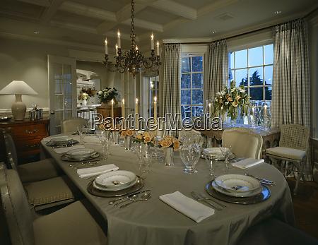 elegant formal dining setting
