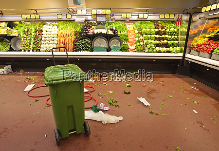 grocery store produce aisle after hours