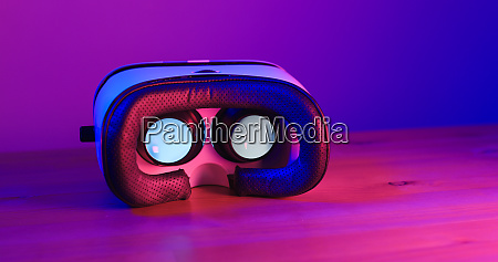 virtual reality with purple and blue