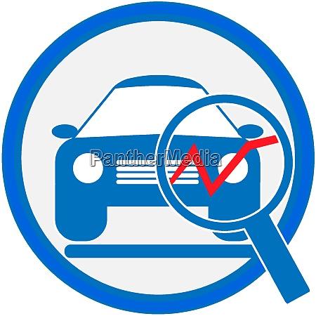 automotive diagnostic repair icon