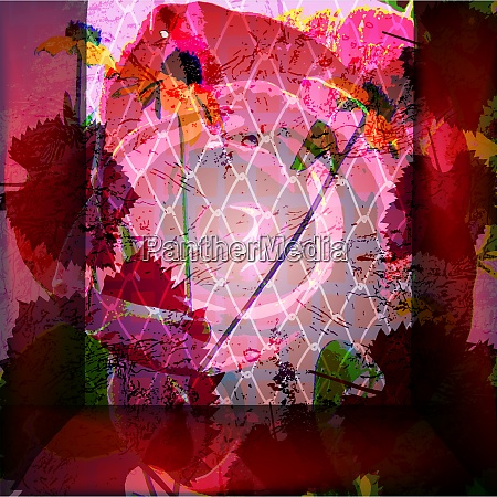 vector colored wallpaper with beautiful abstract