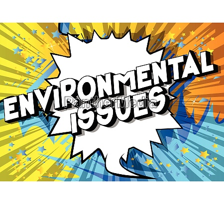 environmental issues comic book style