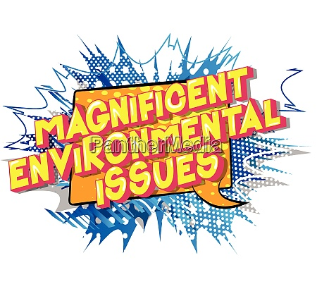 magnificent environmental issues comic book