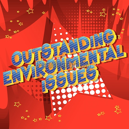 outstanding environmental issues comic book