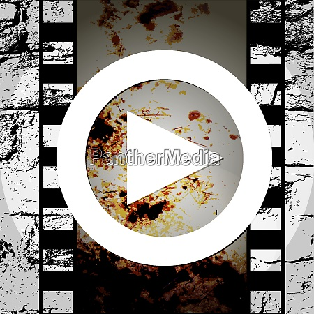 grunge style abstract music play icon