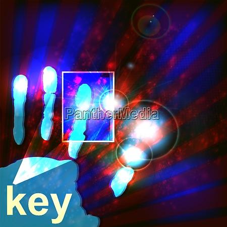 digital security concept vector illustration