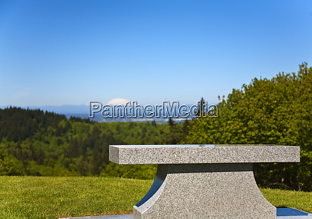 bench at mountain overlook