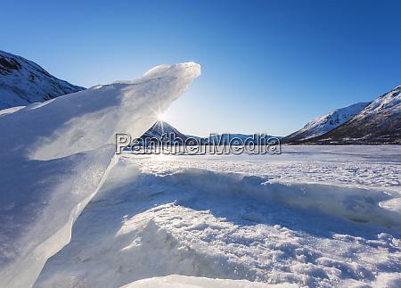polar landscape in tromso norway
