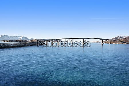 bridge between islands in tromso norway
