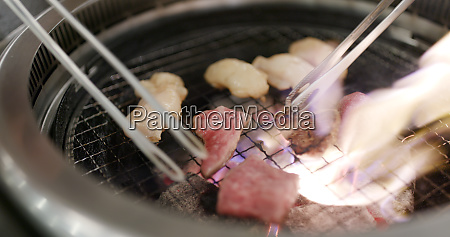 japanese barbecue with beef