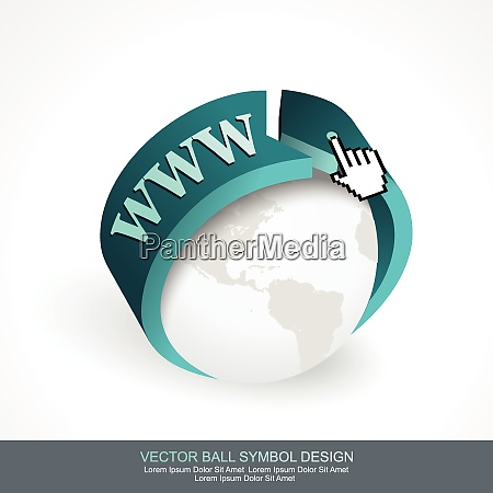 business concept design with grey globe