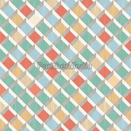 retro pattern of rhombus shapes mosaic