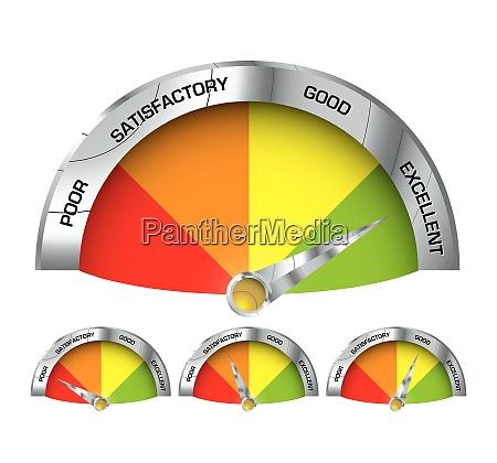 icon style element with performance indicators