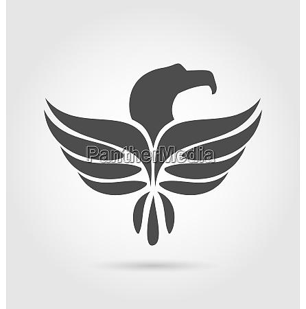 illustration heraldic eagle symbol isolated on