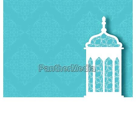 illustration arabic ornamental lamp for ramadan