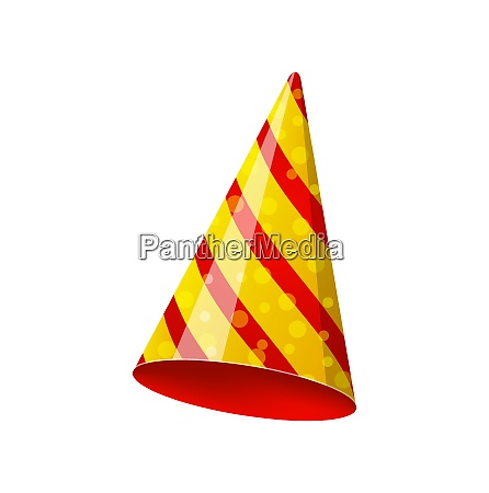 illustration party striped hat isolated on