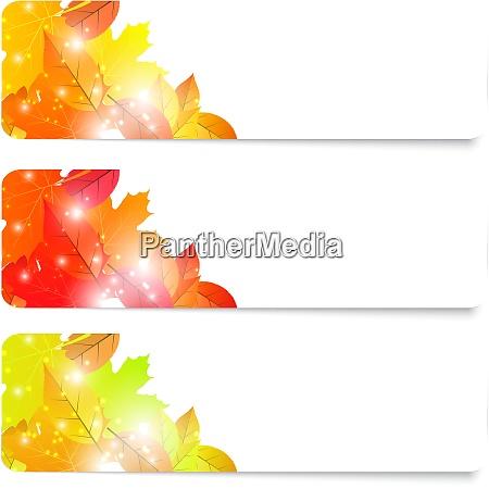 set of three flyers autumn theme