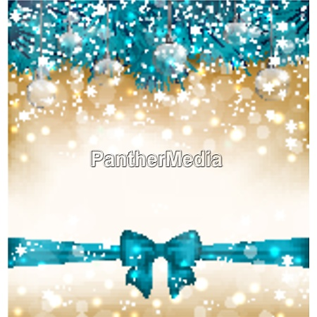 illustration christmas light background with realistic