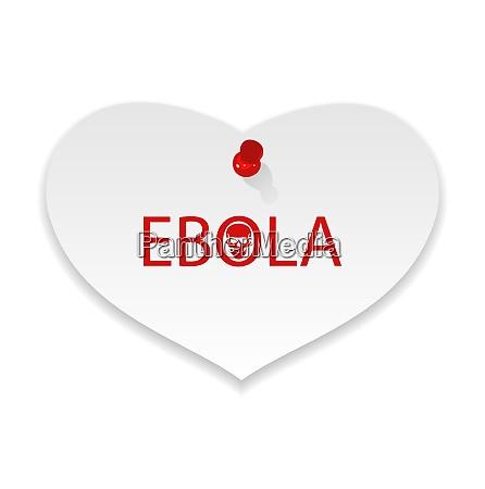 illustration warning epidemic ebola virus paper