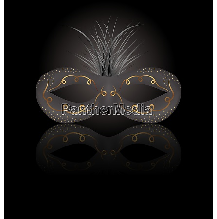 illustration theater or carnival mask with