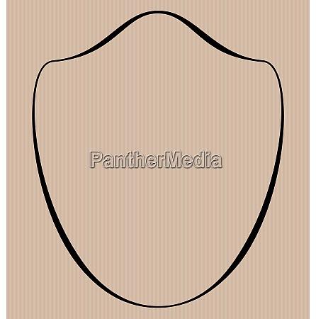 heraldic shield border shape label hand