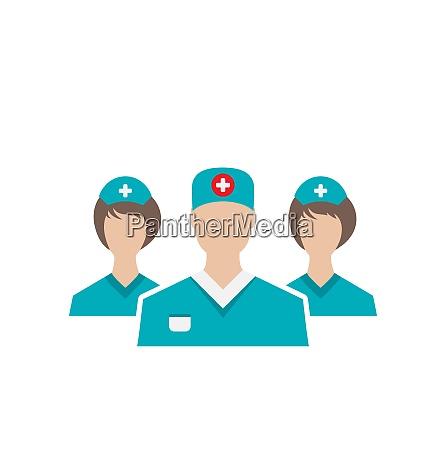 illustration icons set of medical employees