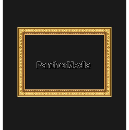 illustration vintage picture frame isolated on