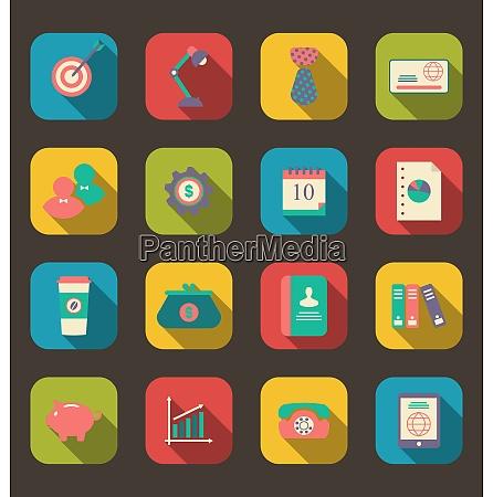 illustration flat icons of web design