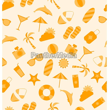illustration seamless texture of travel on