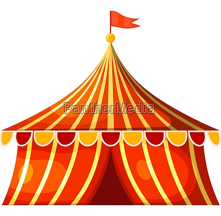 cartoon circus marquee tent vector illustration