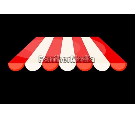 striped tent on a black background