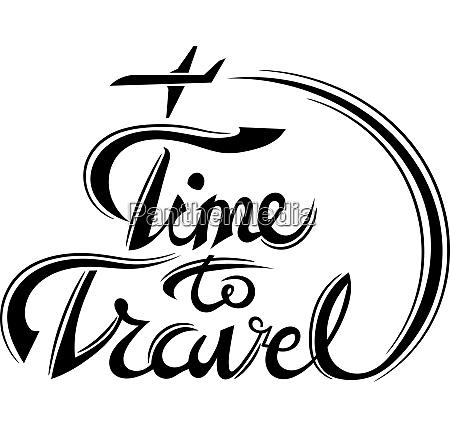 lettering time to travel illustration