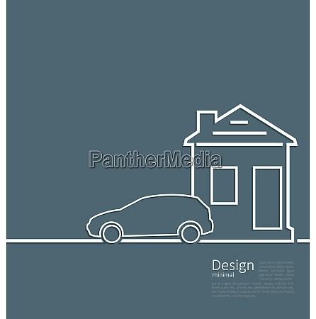 web template house and parking car