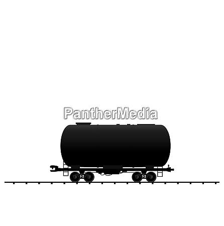 illustration petroleum cistern wagon freight railroad