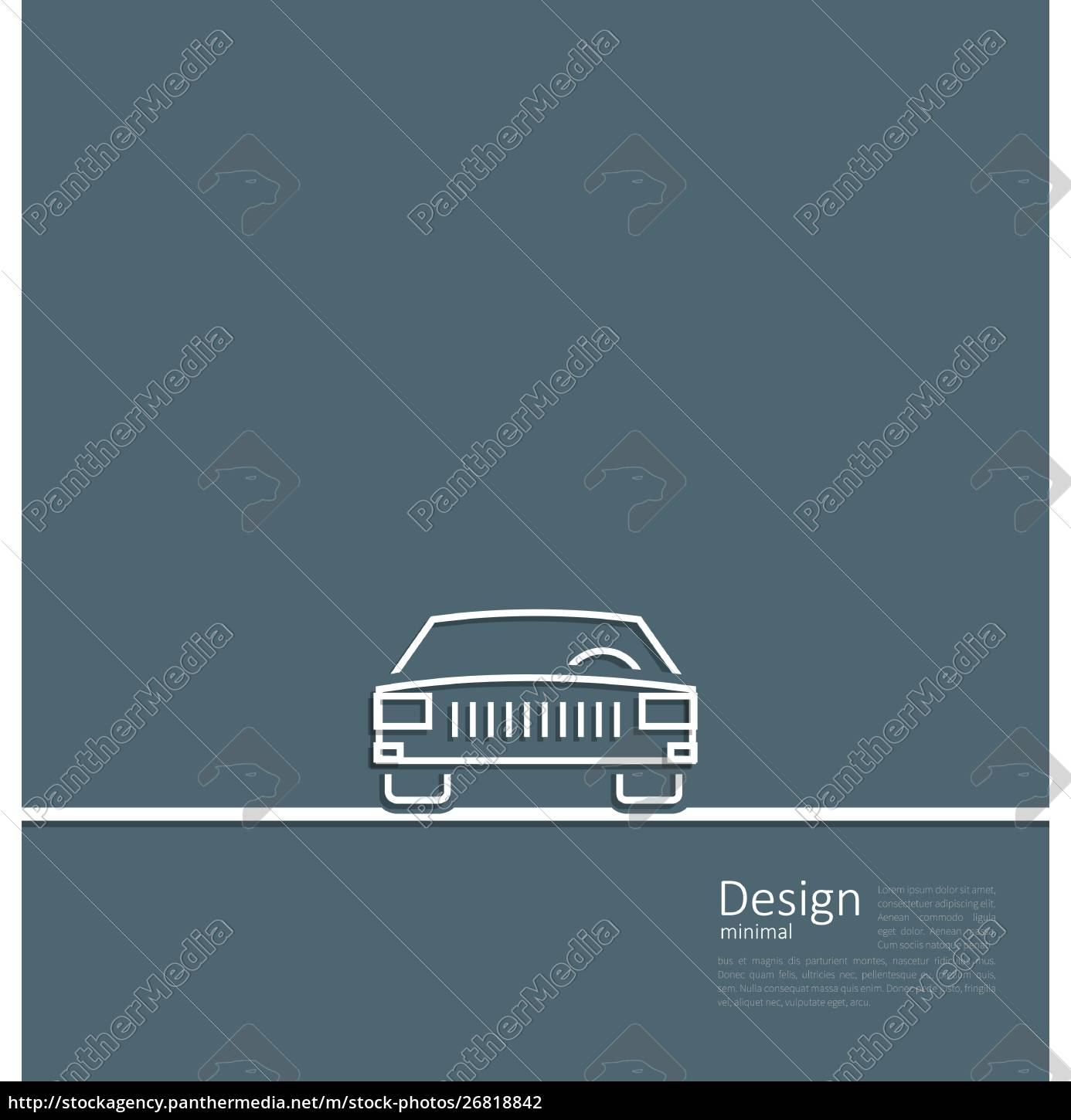 illustration, logo, of, car, , front, side, - 26818842