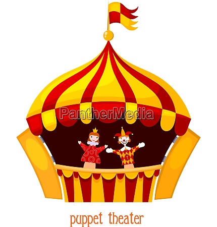 bright a puppet theater on a