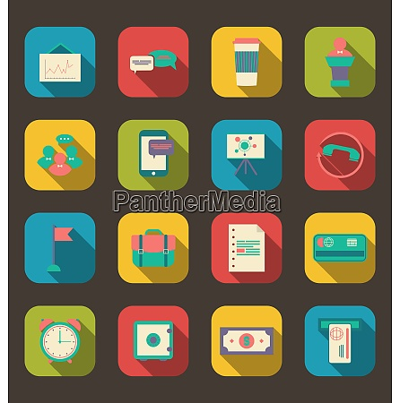 illustration flat icons of financial service