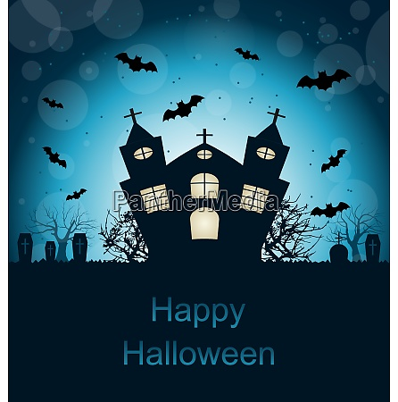 illustration halloween abstract greeting card with