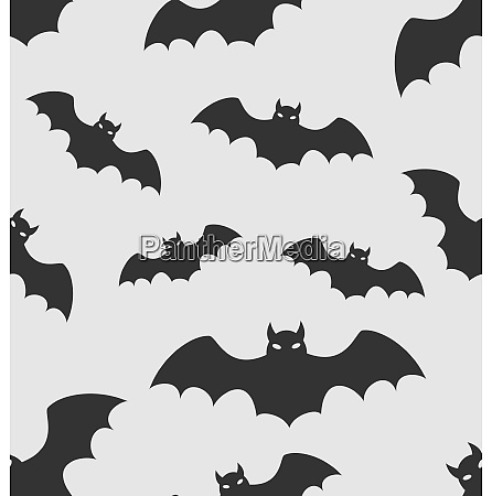 illustration seamless pattern with black silhouettes