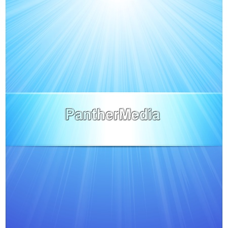 abstract blue sun background with place