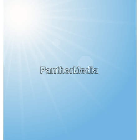 illustration abstract blue background sun