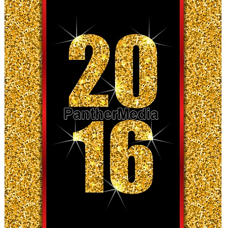 illustration glitter poster with lights and