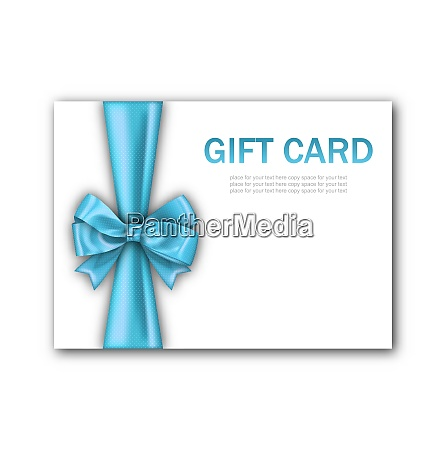 illustration decorated gift card with blue