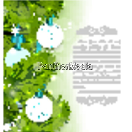 illustration christmas glowing card with fir