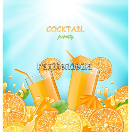illustration abstract banner for cocktail party