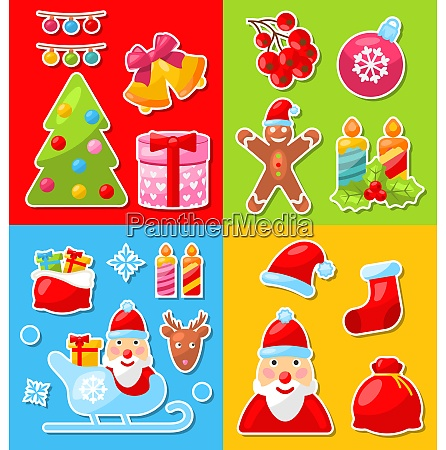 illustration christmas and winter celebration traditional